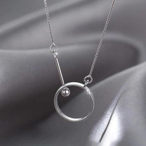 *NEW 925 Sterling Silver Circle Bead Necklace